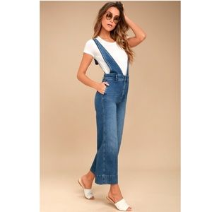 New FREE PEOPLE A-Line Medium Wash Overalls